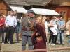 """Plenerowe widowisko historyczne """"Odwojowanie Galicji"""" na Rynku Galicyjskim w sanockim skansenie"""