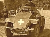 Niemiecki wóz pancerny w jednej z podhalańskich wsi, wrzesień 1939 r.