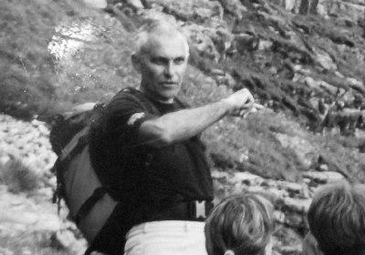 Z Mistrzem Cywińskim na szkoleniu dla przewodników tatrzańskich II klasy (2004). Fot. Dariusz Dyląg