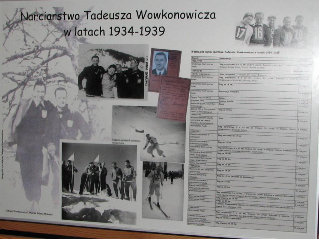 Narciarstwo Tadeusza Wowkonowicza 1934-39